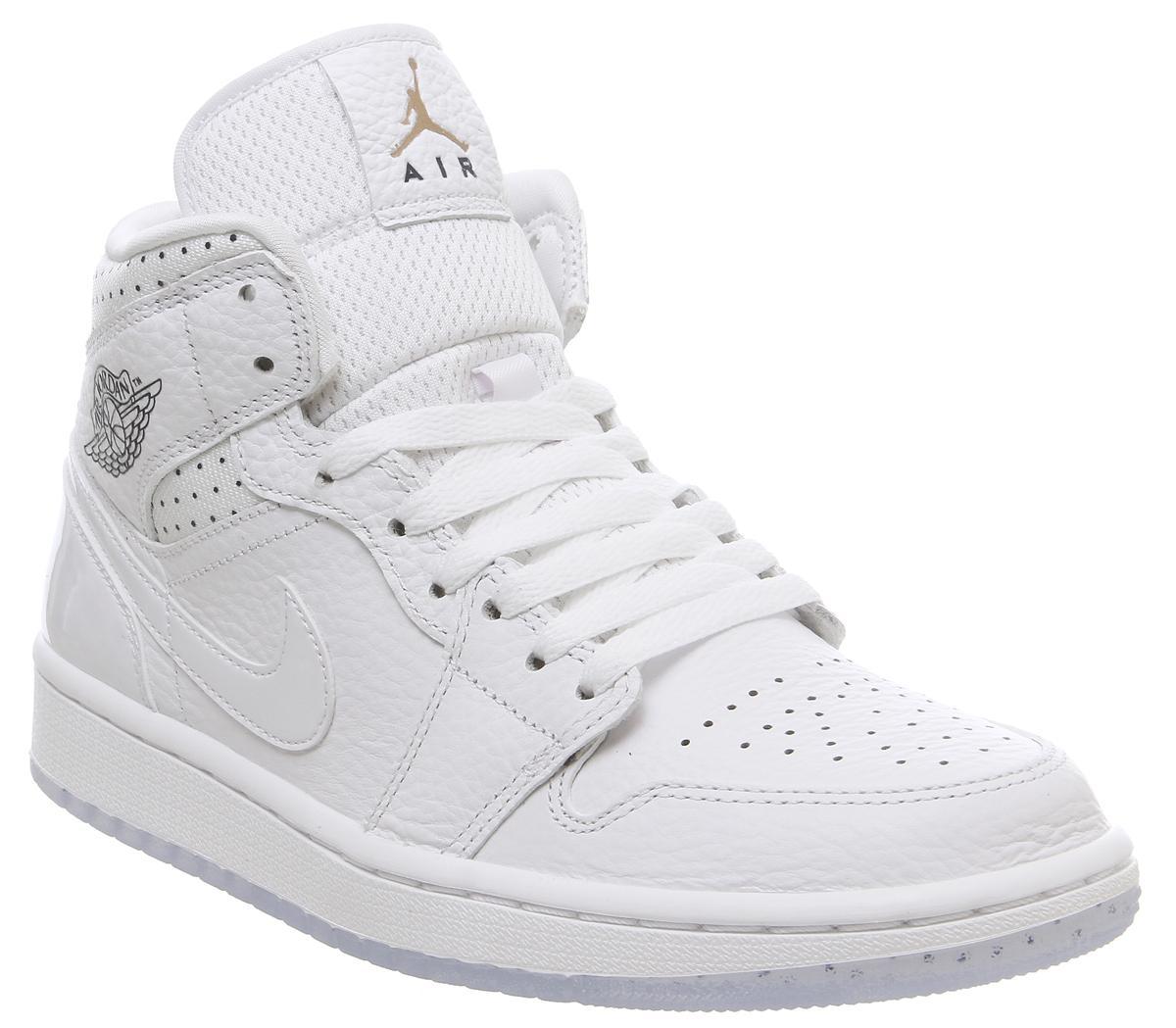 Jordan Air Jordan 1 Mid Trainers White