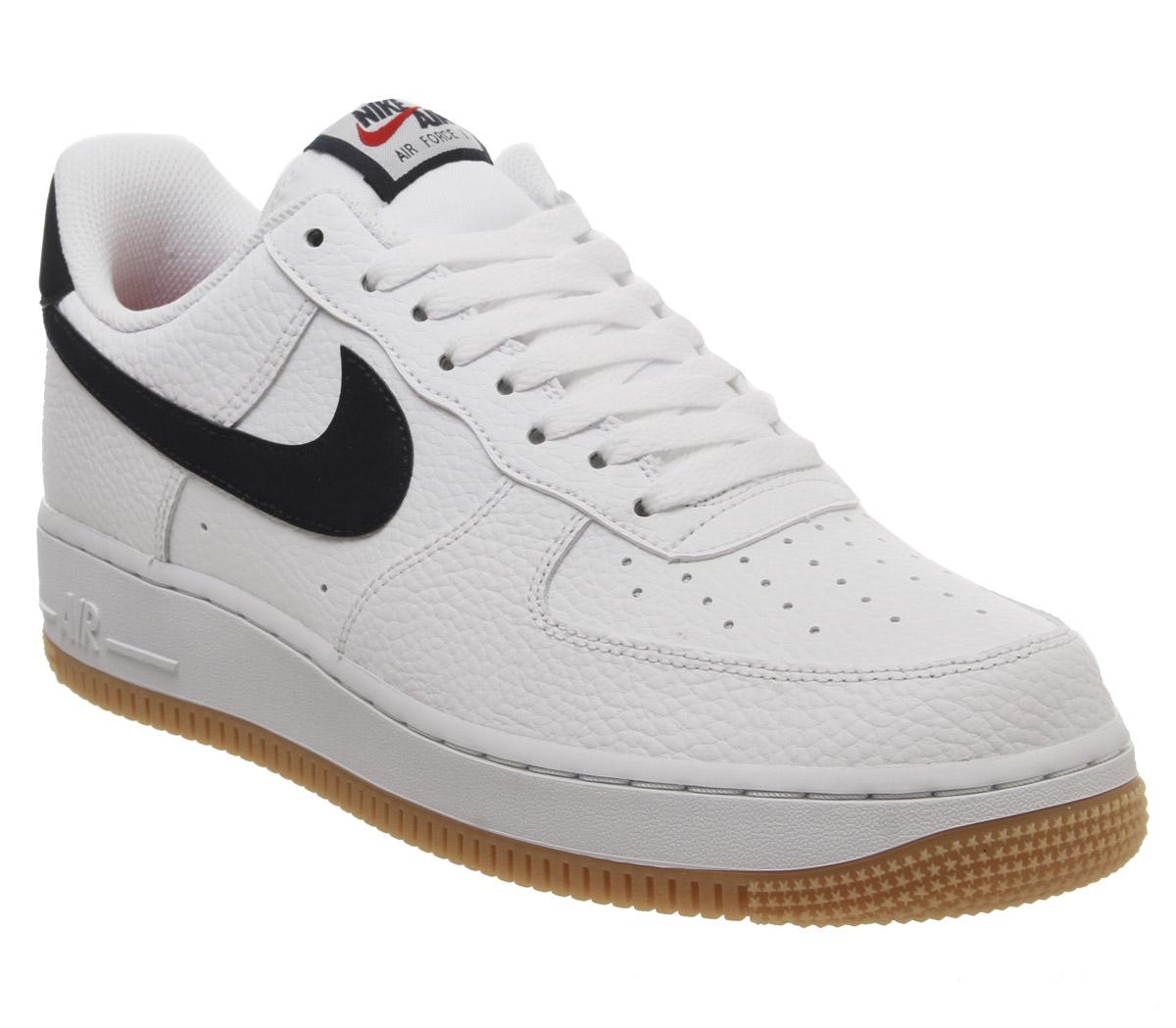 Aplastar Desconocido peine  Nike Air Force 1 Lv8 Trainers Black Gum - His trainers