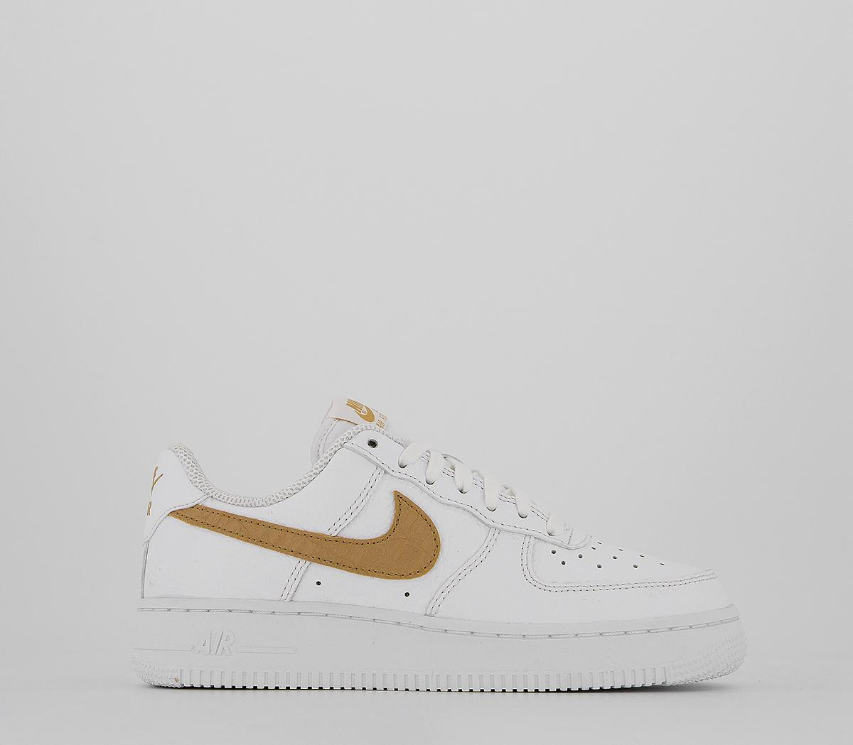 Favor inercia Editor  Nike Air Force 1 Lv8 Trainers White Club Gold White - Unisex Sports