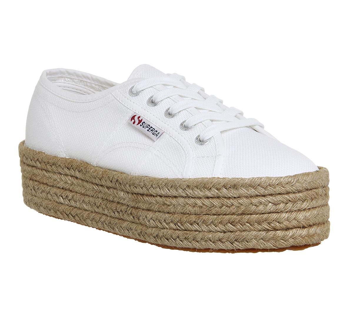 Superga 2790 White Espadrille - Hers