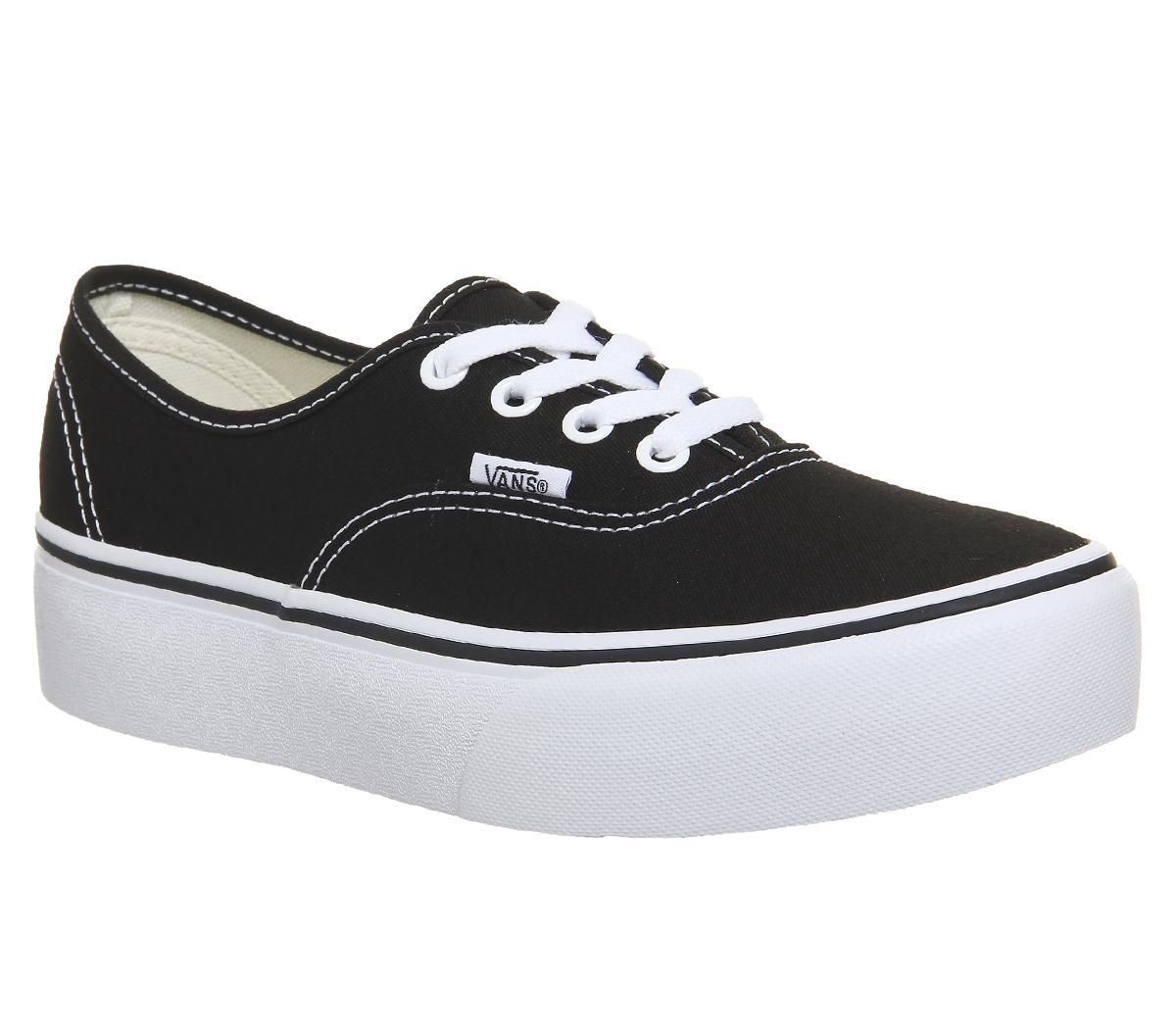 Vans Authentic Platforms Black - Hers