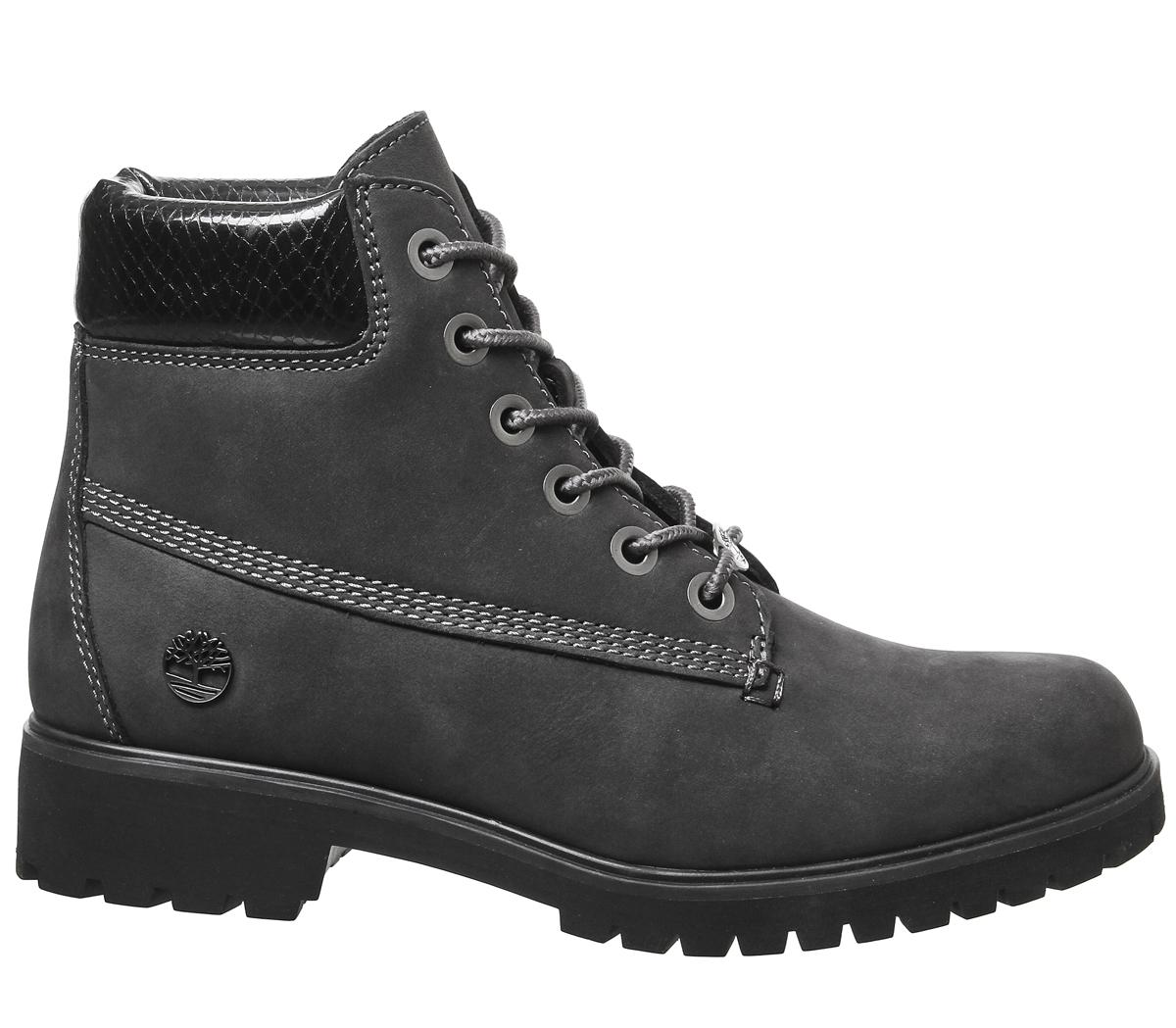 palma Genealogía alfiler  Timberland Slim Premium 6 Inch Boots Forged Iron Black Snake Collar - Ankle  Boots