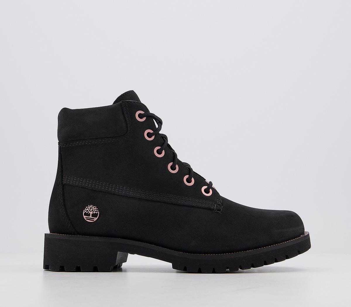 Ya que Dar permiso Chimenea  Timberland Slim Premium 6 Inch Boots Black Rose Gold Chain - Ankle Boots