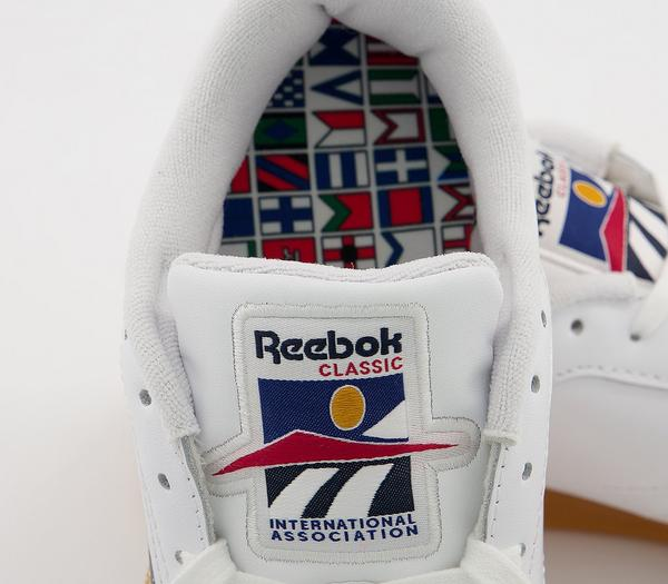Reebok Club C 85 Trainers White Radiant Red Blue Blast - Hers trainers gJbzqOk