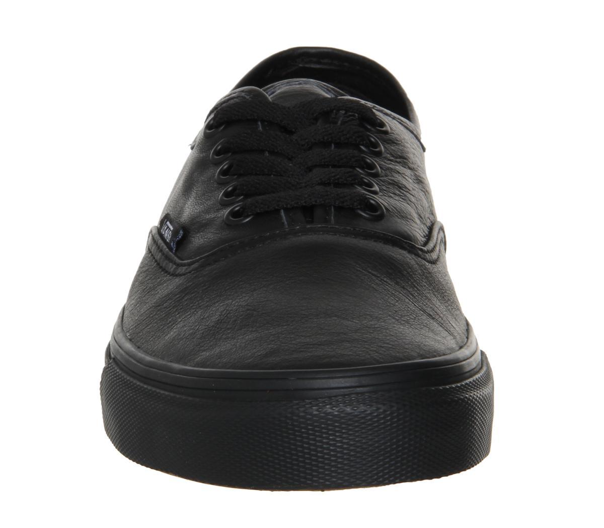 Vans Authentic Leather Black Mono