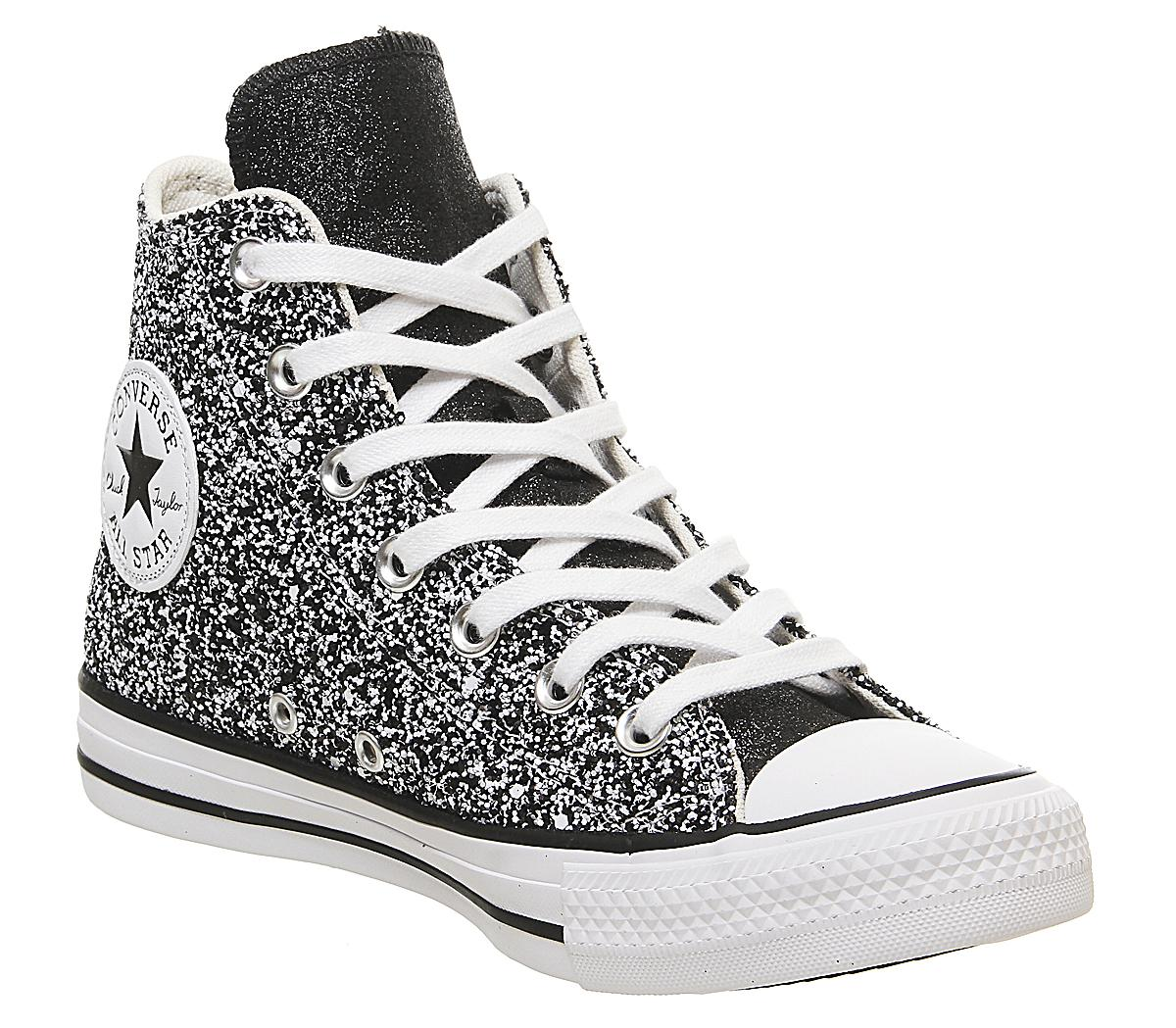 Black Silver White Glitter - Hers trainers