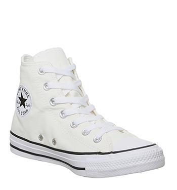 Damen converse Weiß schwarz Hi Smile Sneaker