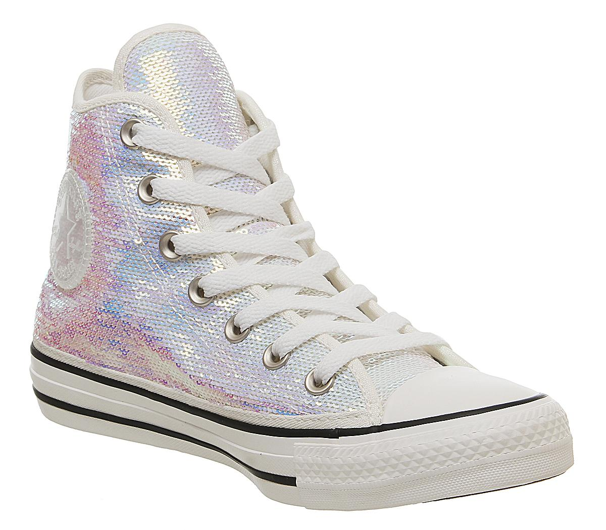 Converse All Star Hi W shoes silver