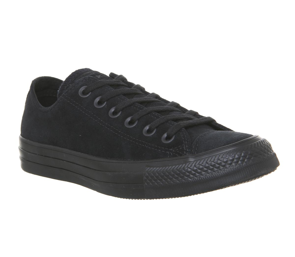 Black Black Mono Suede - Hers trainers