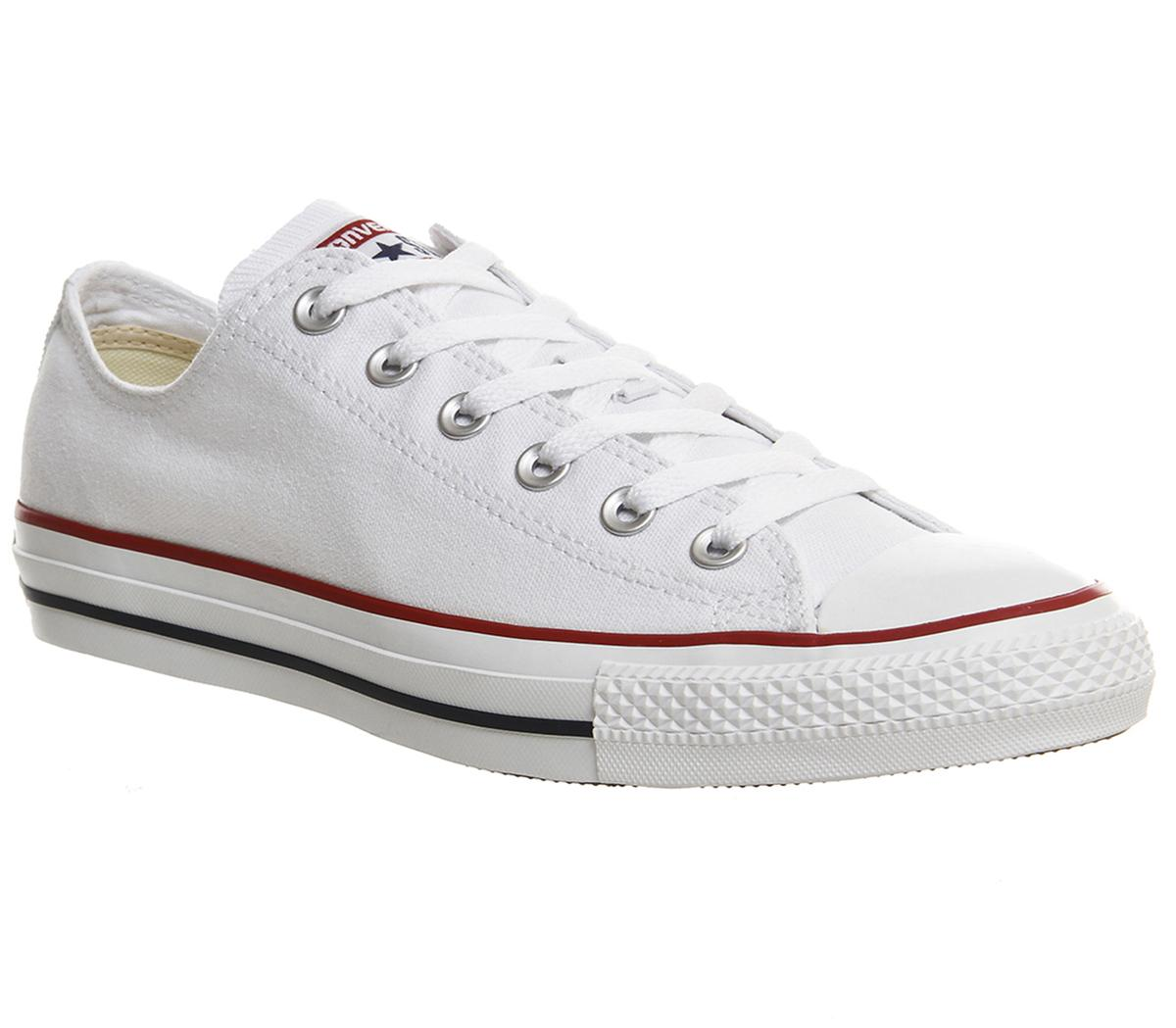 var man kan köpa köpa billigt bra kvalitet Converse All Star Low White Canvas - Unisex Sports