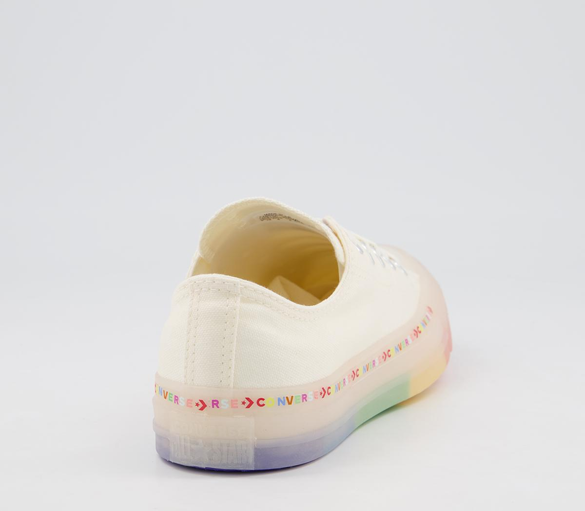 star low trainers egret white rainbow