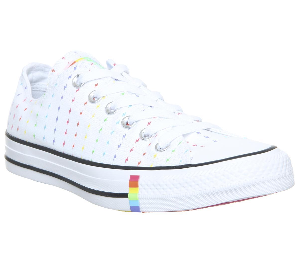 White Rainbow Lightening Pride - Unisex