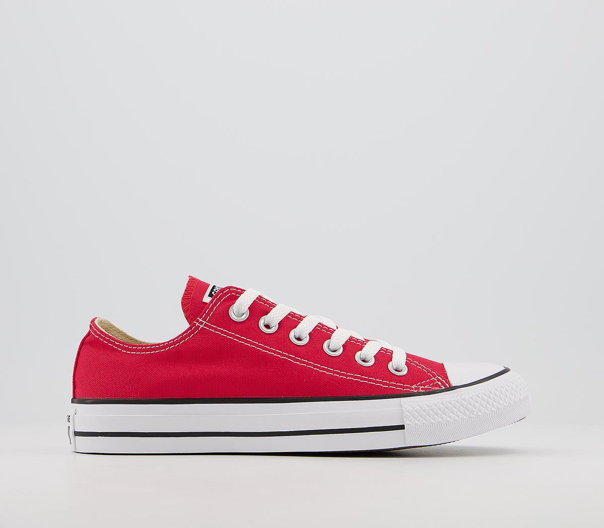Converse All Star Low Red Canvas
