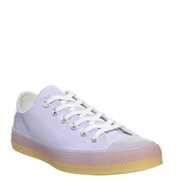 Womens Converse Converse All Star Low Trainers Oxygen Purple White Fresh Yellow