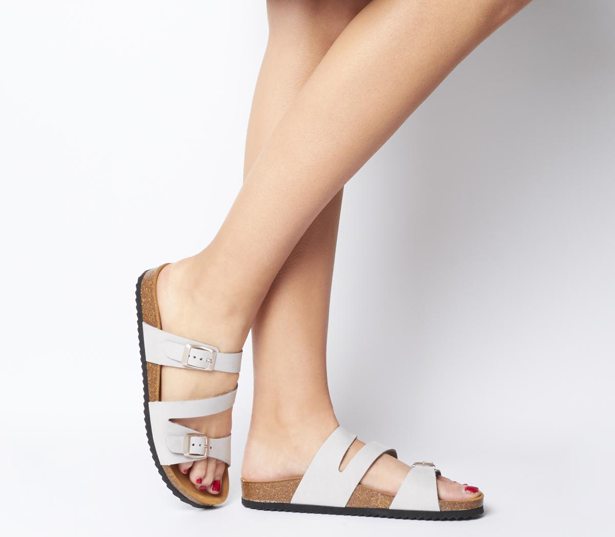 Bounty Cross Strap Footbed Sandals