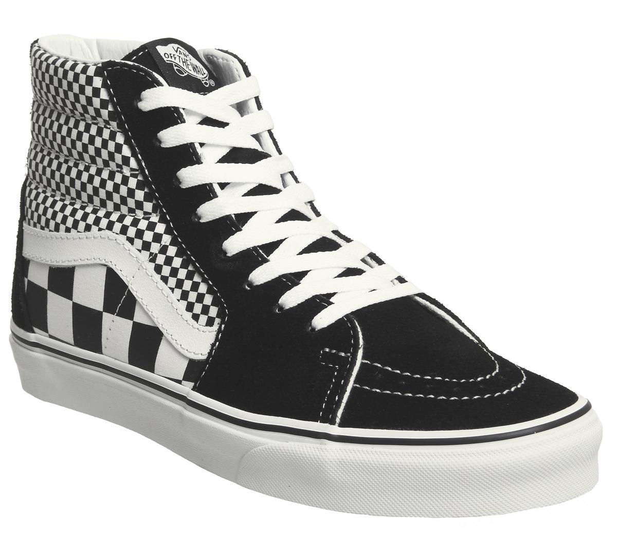 Vans Sk8 Hi Trainers Black White Mix