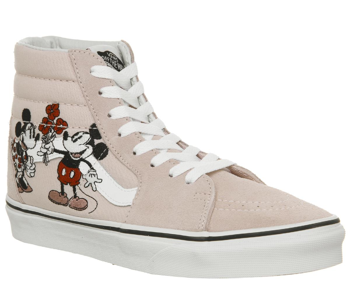 Vans Sk8 Hi Trainers Mickey And Minnie