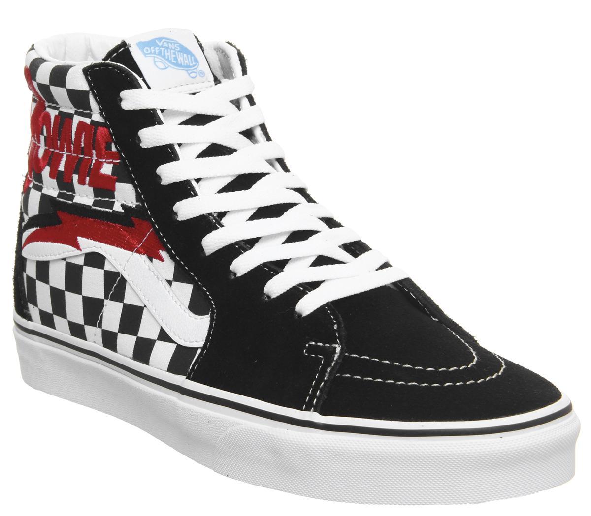 Vans Sk8 Hi Trainers Bowie Checkerboard