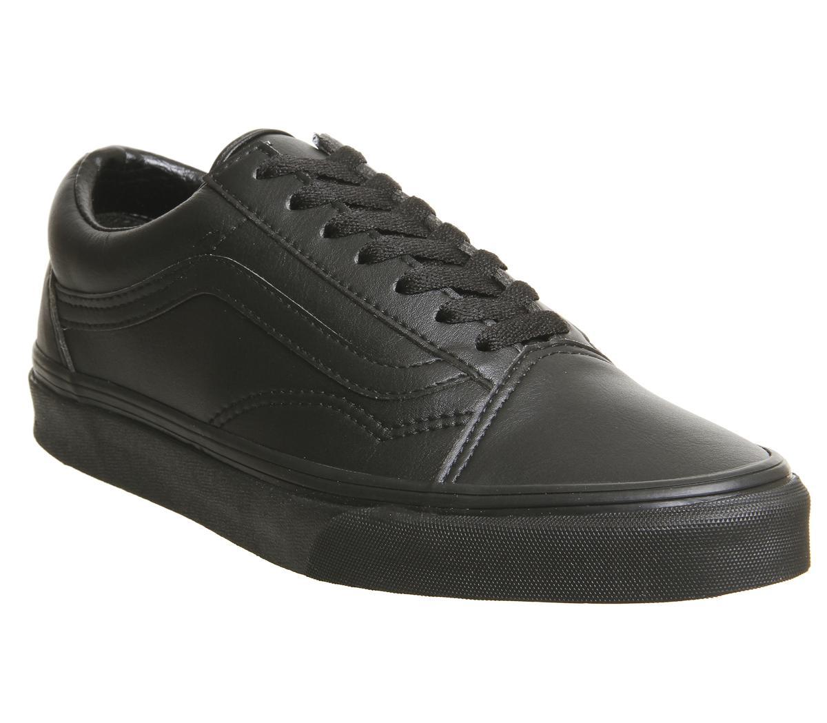 Vans Old Skool Black Black Mono Leather