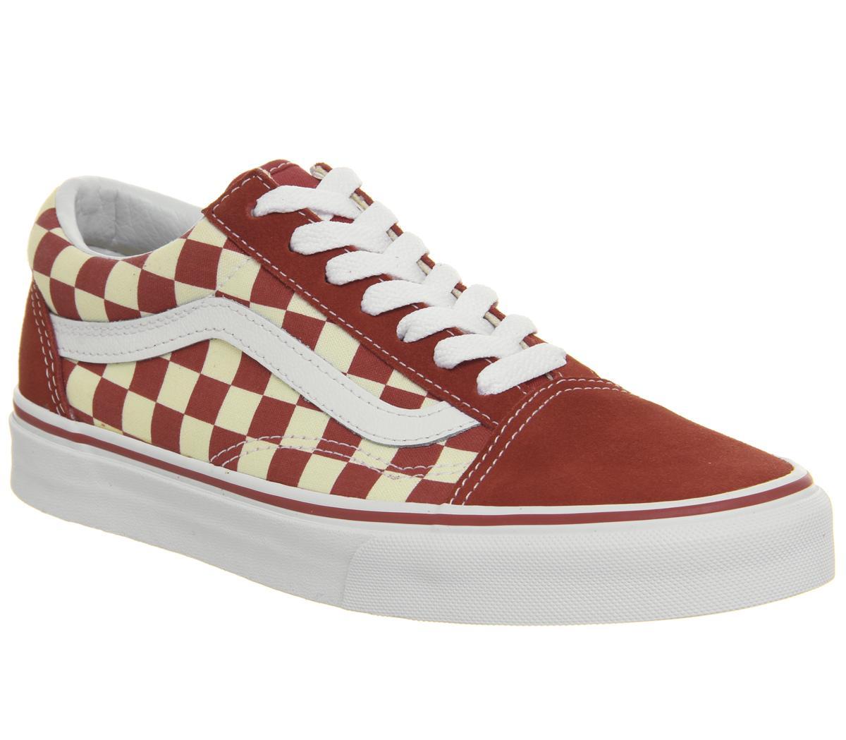vans checkerboard old skool red and