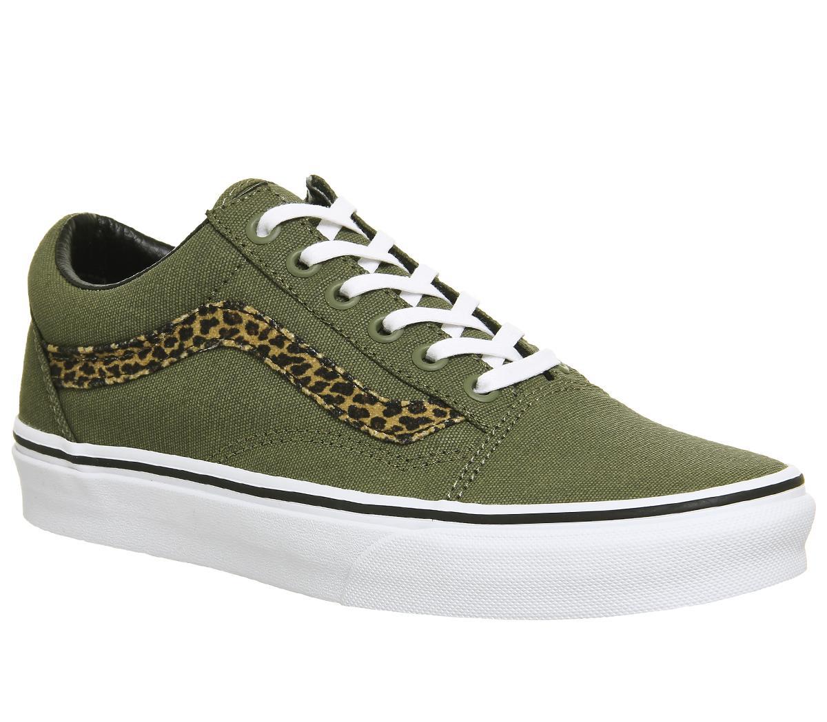 Vans Old Skool Trainers Mini Leopard