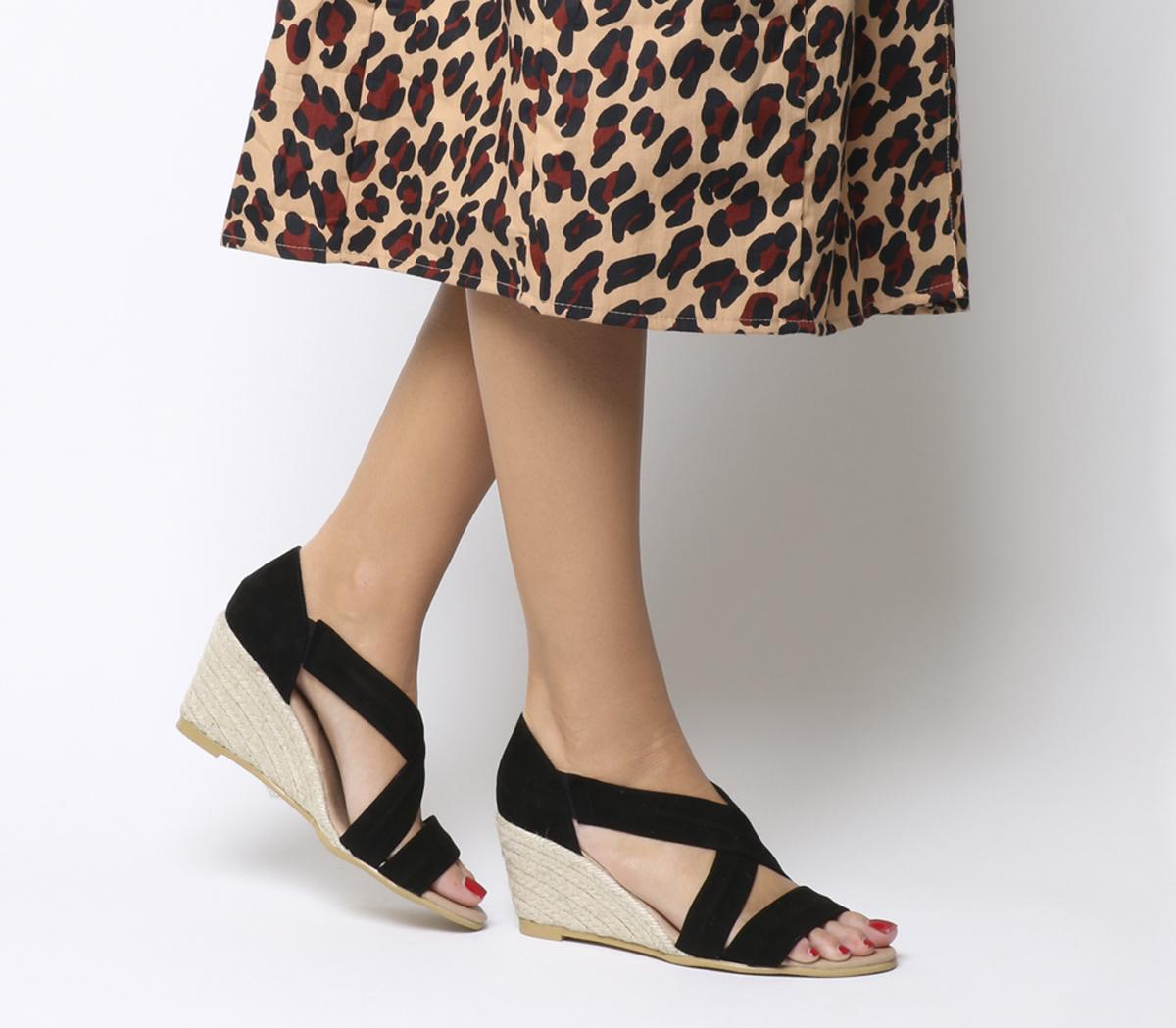 Maiden Cross Strap Wedges