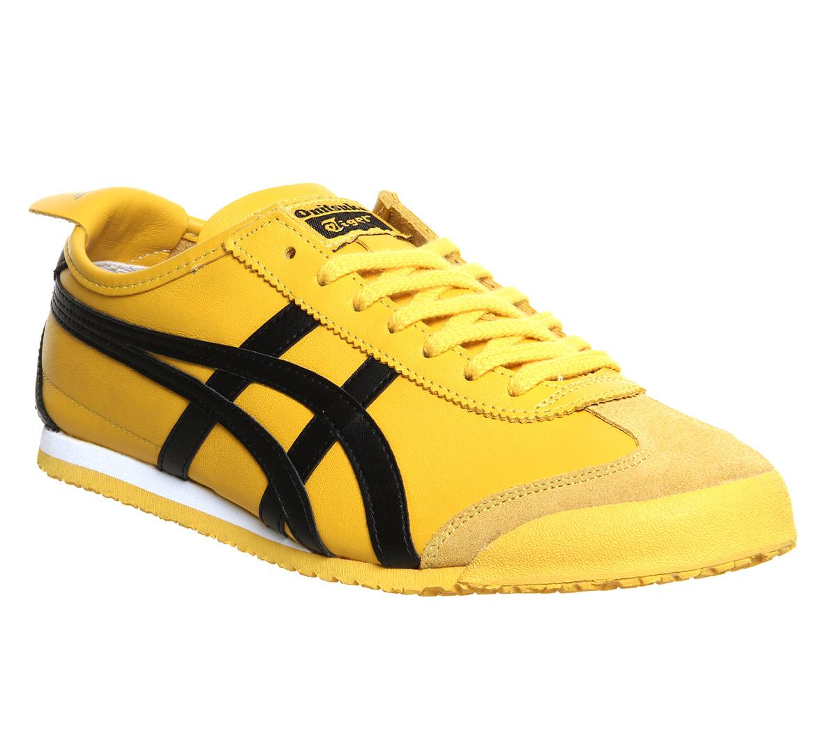 onitsuka tiger mexico 66 yellow black womens trainers