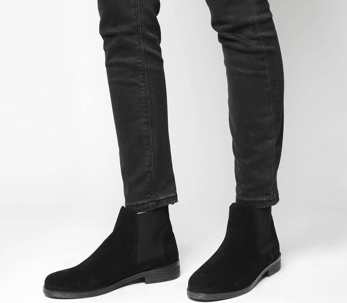 Office Jamie Chelsea Boots Black Suede