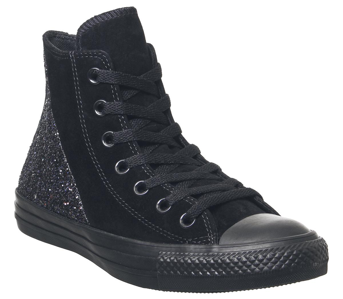 sparkly trainers black