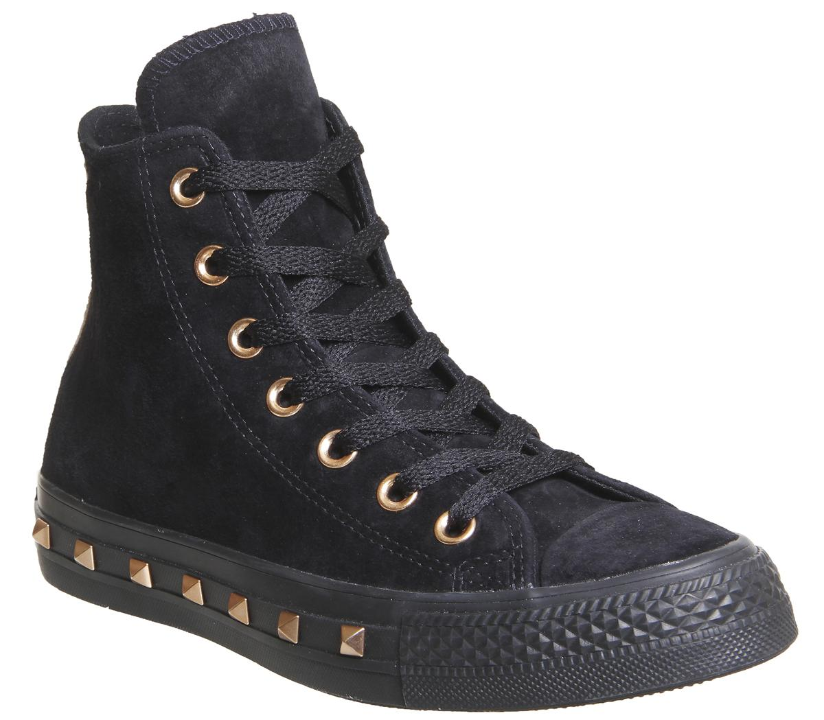 CONVERSE Shoes Women Shoes /'ALL STAR HI /'Studs Leather Sneakers Original New