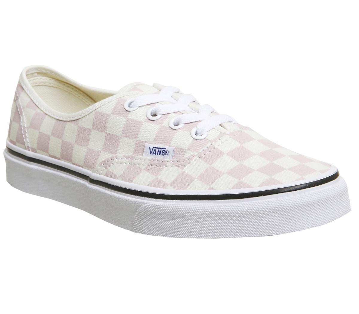 vans pink white checkerboard