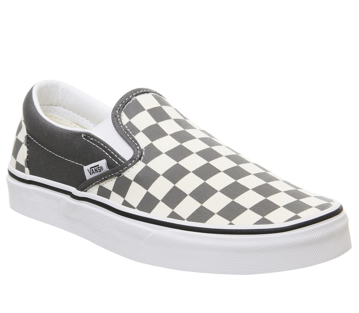 Vans Vans Classic Slip On Pewter White