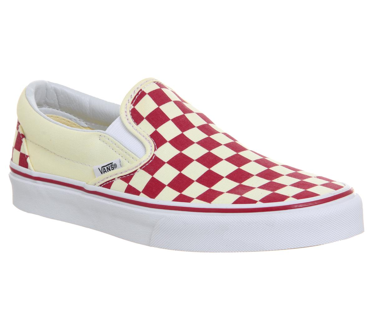 red and white checkered vans