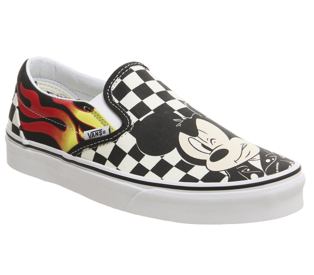 Gracia Creta ancla  Vans Vans Classic Slip On Trainers Mickey And Minnie Checker Flame Disney -  Hers trainers