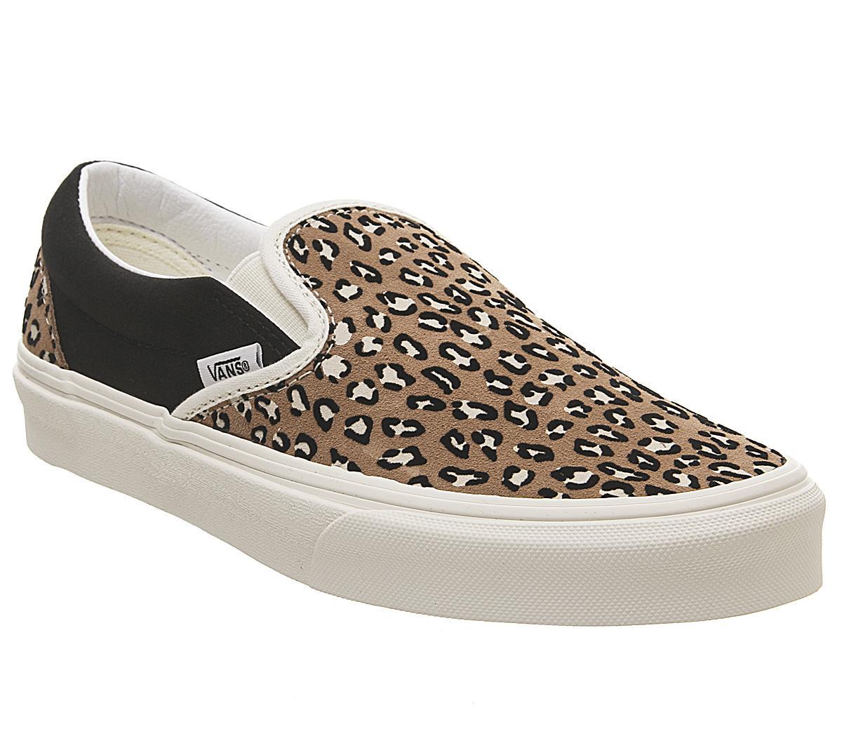 Vans – Klassische Slipper Turnschuhe mit Leopardenmuster