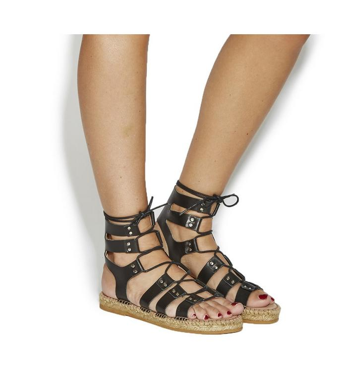 Gaimo for OFFICE Gaimo for OFFICE Jacobo Sandal BLACK LEATHER