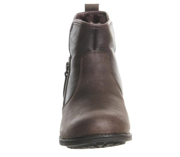 UGG Lavelle Zip Boots Stout Leather - Ankle Boots enw4pqC
