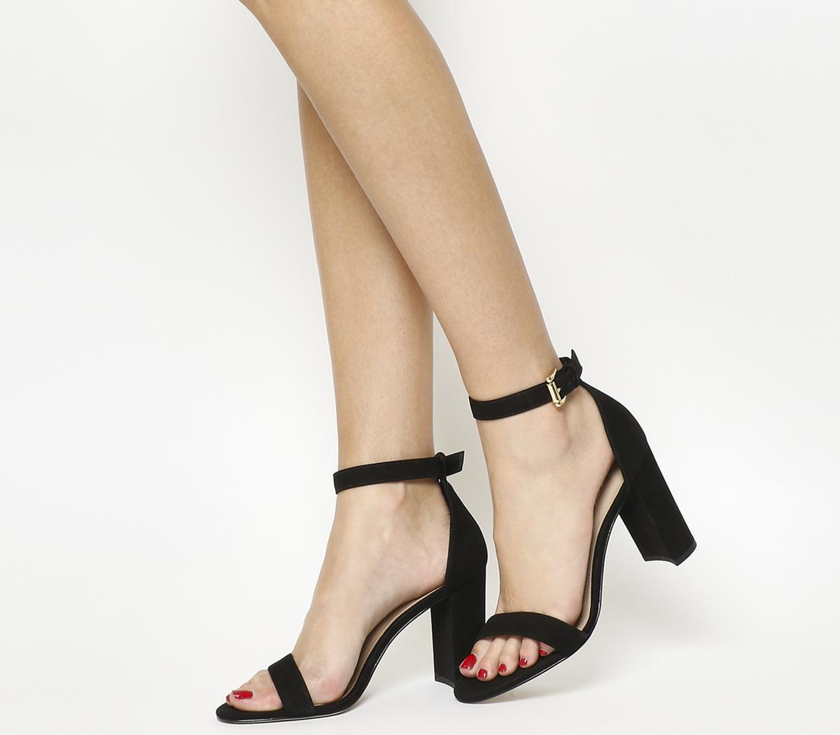 Office Nina Block Heel Sandals Black