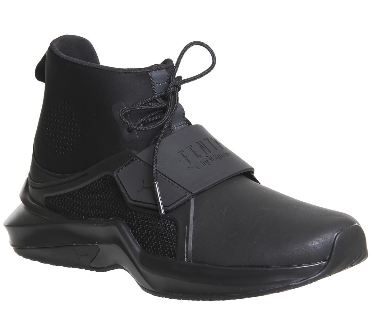 rihanna puma trainers black