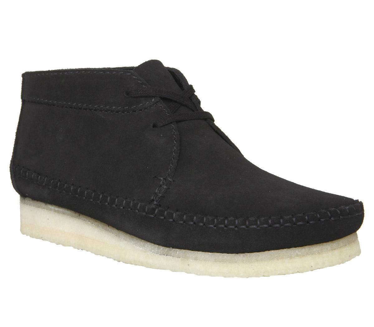 mostaza Muslo izquierda  Clarks Originals Weaver Boot Black Suede New - Boots