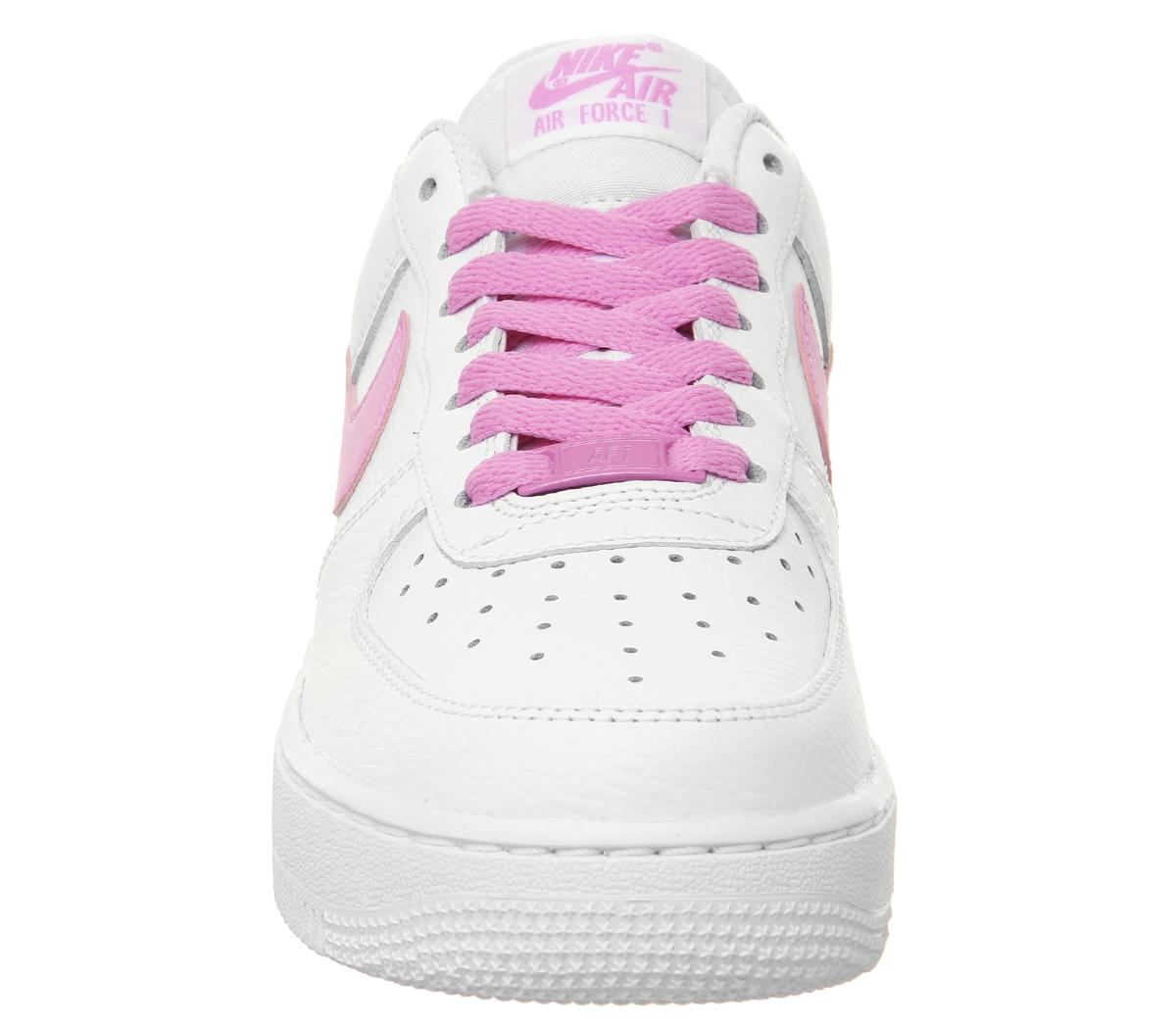Nike Air Force 1 '07 Trainers White Psychic Pink Sneaker damen
