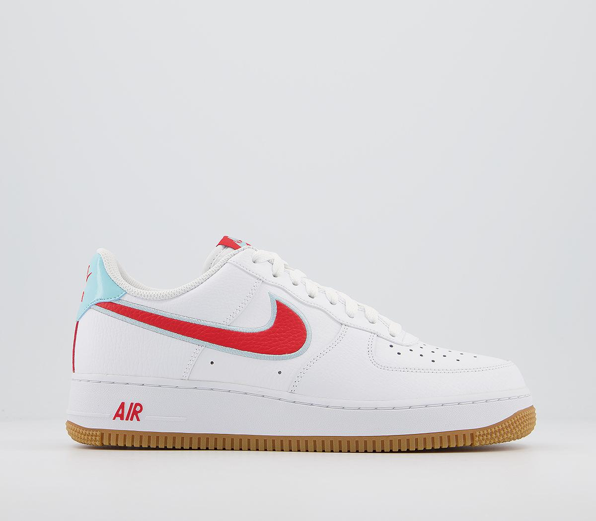 Nueve Sui Tentáculo  Nike Air Force 1 07 White Chile Red Glacier Ice - His trainers