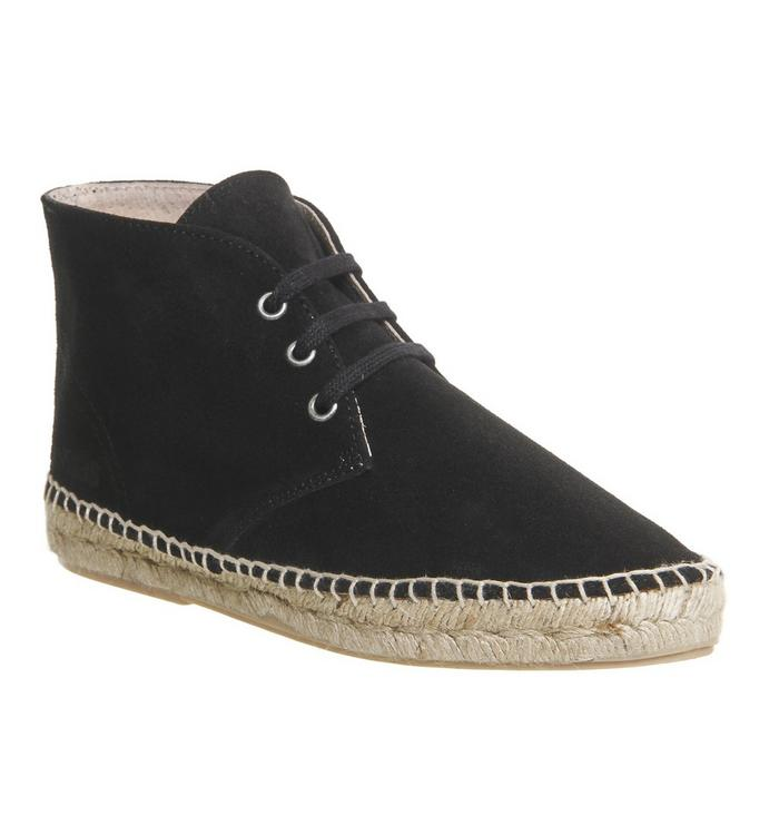 Solillas Solillas Espadrille Boot BLACK SUEDE