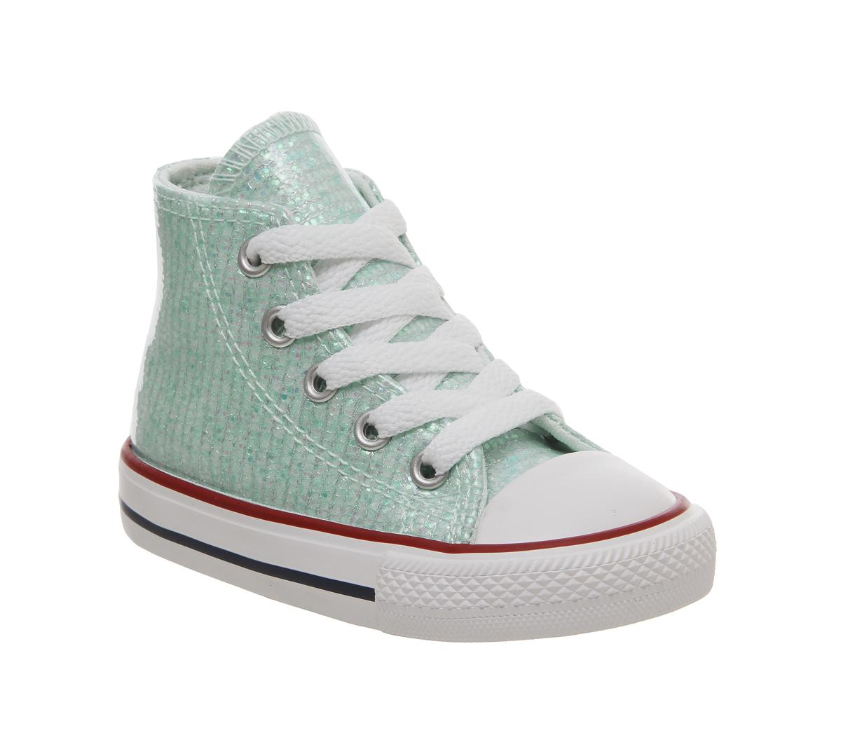 Small Star Hi Canvas Trainers