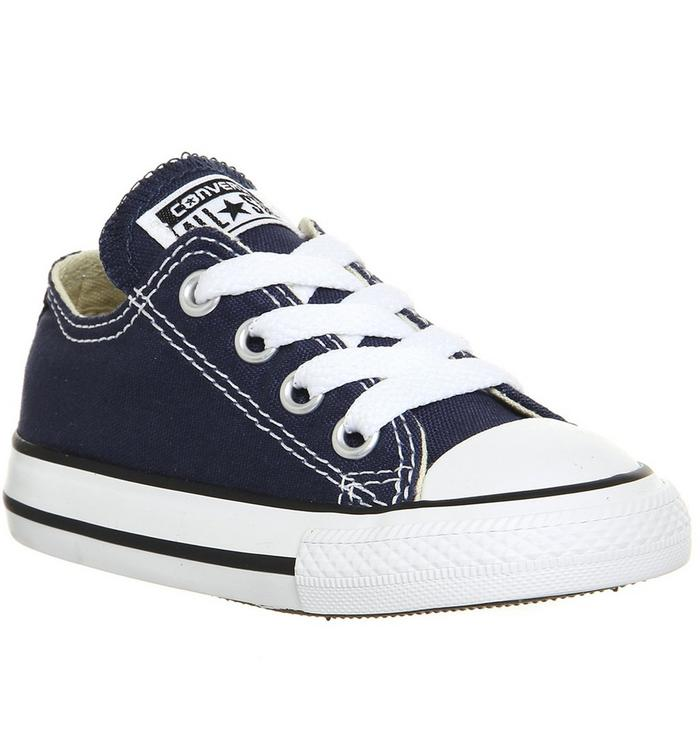 Image of Converse All Star Low Infant Shoes NAVY