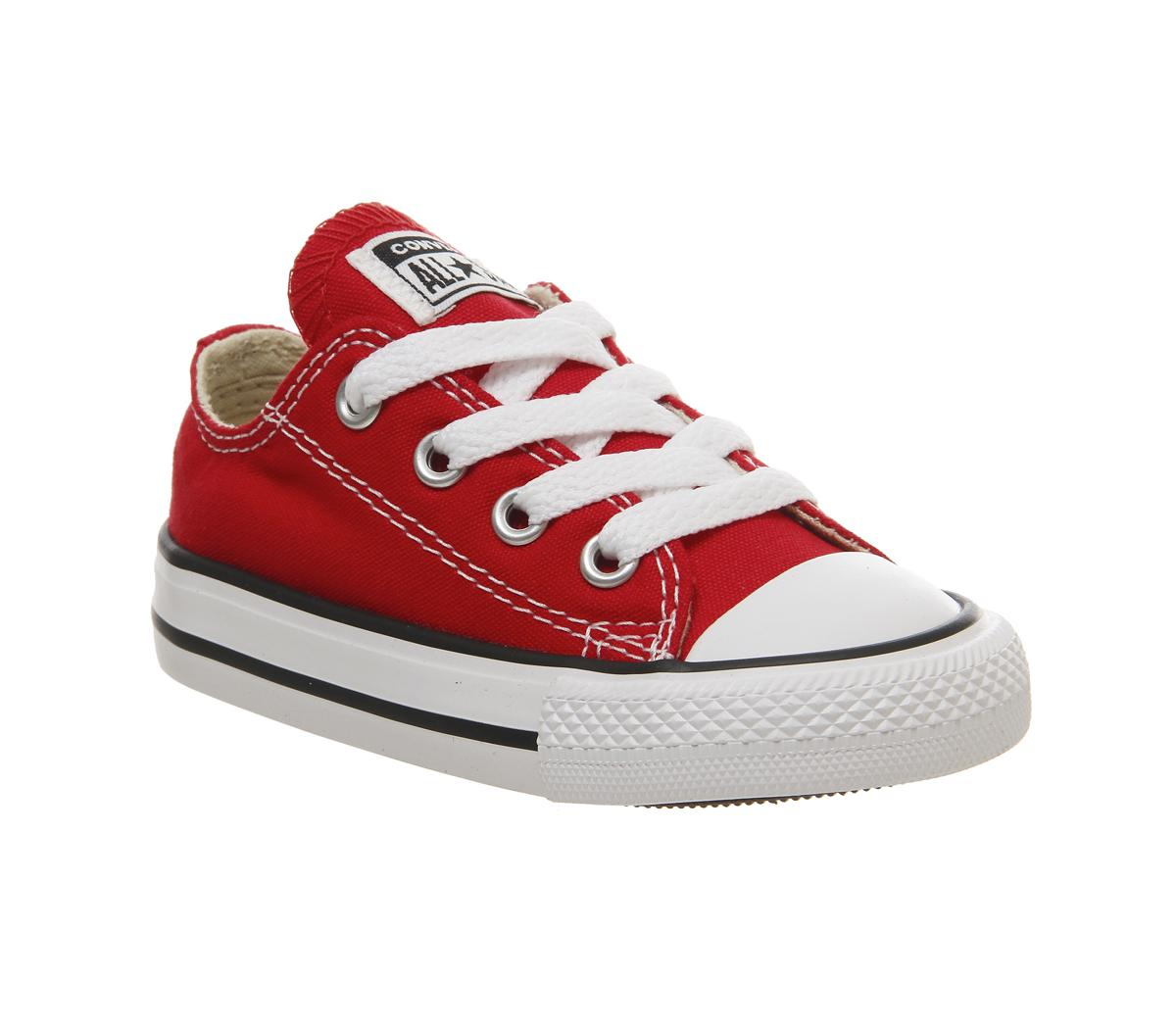 Converse All Star Low Infant Shoes Red