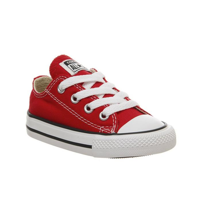 Image of Converse All Star Low Infant Shoes RED