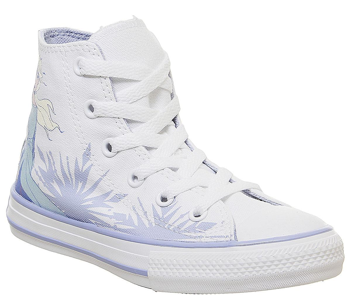 Converse All Star Hi Mid Sizes Trainers White Multi Elsa