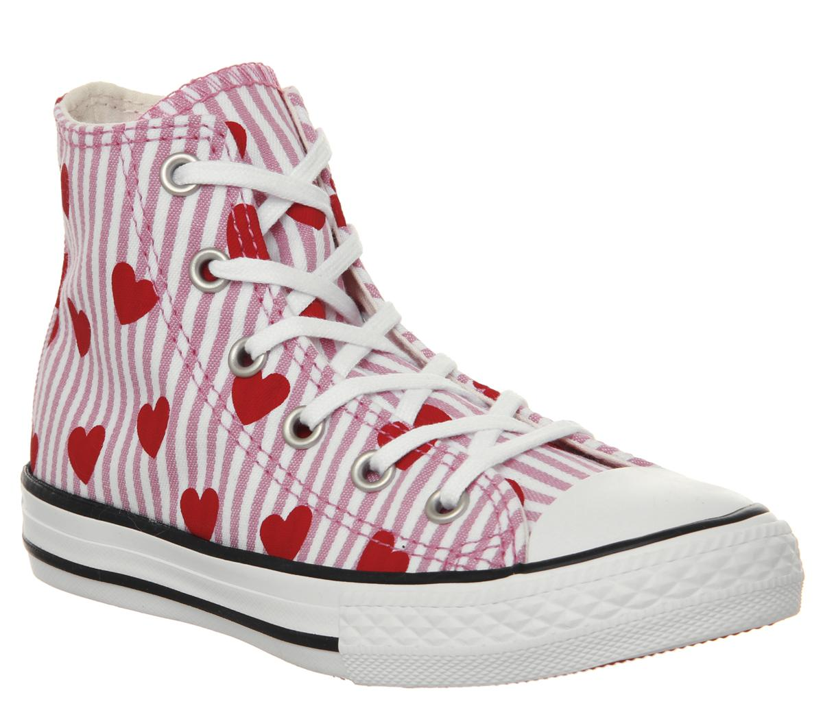 red stripe converse