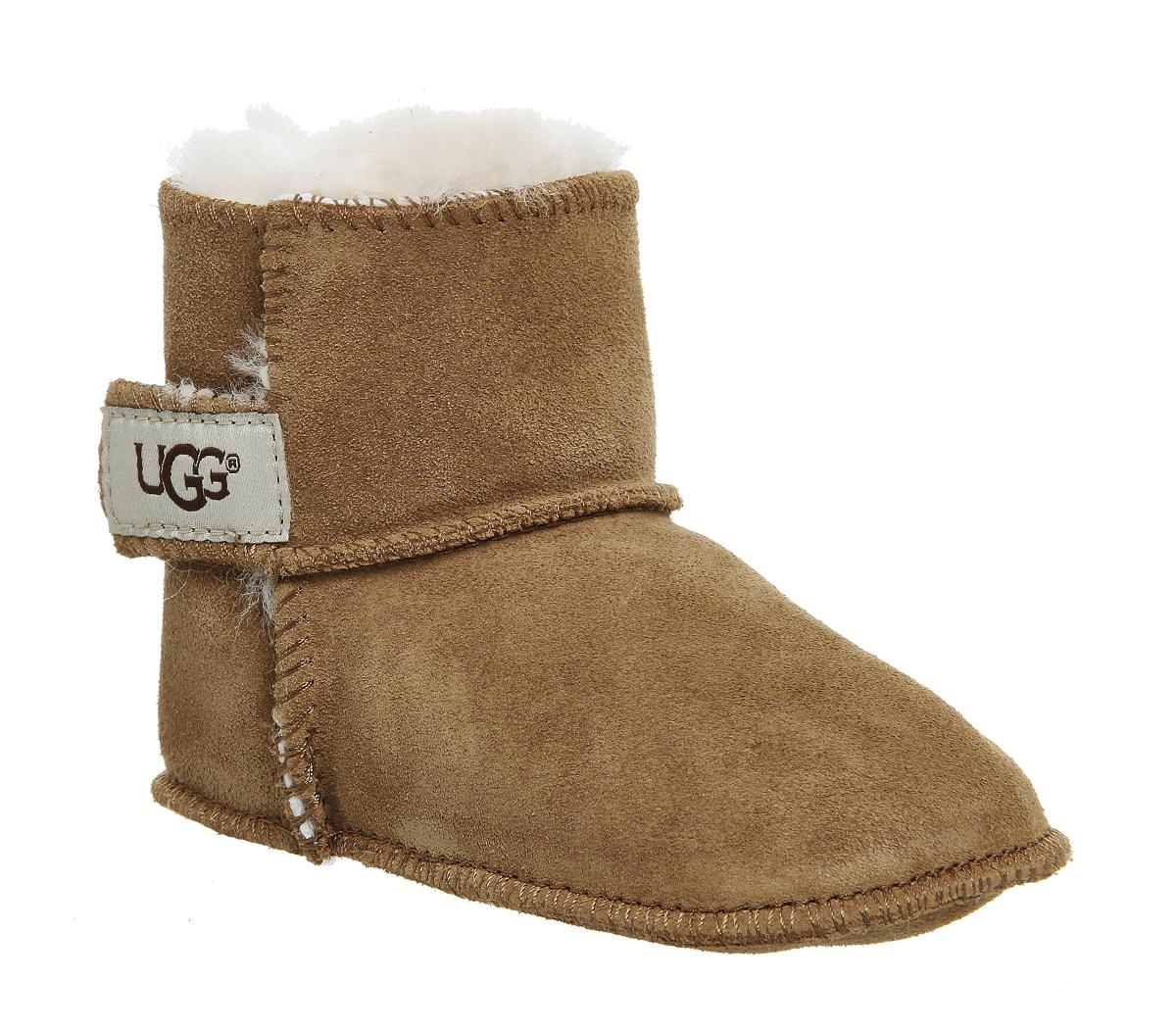 GAP Baby Toddler Boy Size 5 US 22 EU Brown Sherpa-Lined Boots Booties Shoes